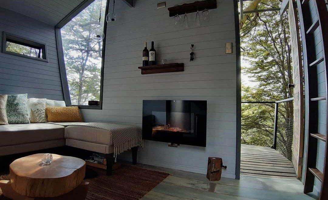 Interior Tree Lodge Chiloe